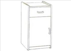 Cabinet Bedside 1 x Drw 1 x door